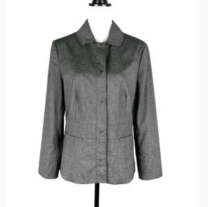 Chico's gray snap front collared jacket 1 M 8